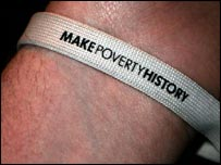 Make Poverty History wristband