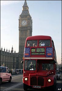 Routemaster bus and Big Ben