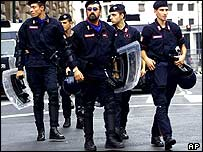 Carabinieri officers in Italy