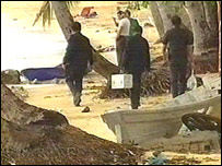 Thai police on Koh Samui