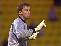 Livingston goalkeeper Roddy McKenzie