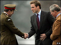 Prince William meets Major General Andrew Ritchie, Commandant of Sandhurst