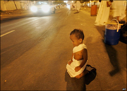 Young Muslim child on Mecca street