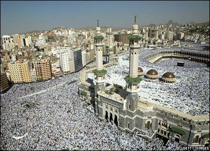 Aerial shot of Mecca