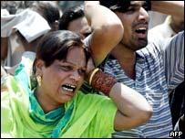 Survivors in shock after the blast