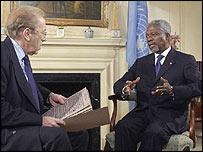 Frost and Kofi Annan