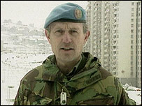 Sir Michael in Bosnia 1994