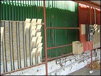 Worker registration board with tickets in it