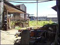 Outbuildings at the sugar factory
