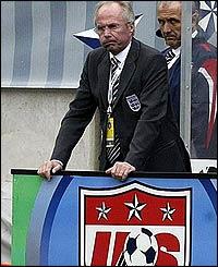 England boss Sven-Goran Eriksson's