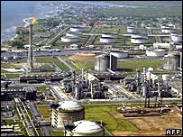 Oil plant in the Niger Delta