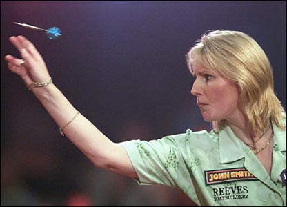 Defending women's champion Trina Gulliver