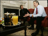 Tony Blair and Jamie Oliver
