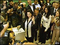 Nazek Hariri, widow of former slain Lebanese premier Rafik Hariri