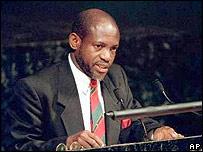 Prime Minister Denzil Douglas