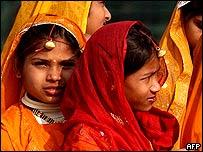 Niñas en India