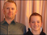 Thomas Harland and father Jon