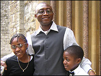 Michael Atayi and children