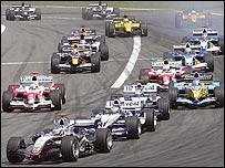 The start of the European Grand Prix