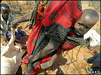 Kenyan child in drought