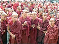 Buddhist monks in Dharamsala