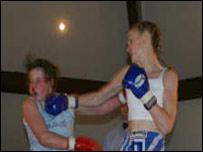 Karen loves her Thai boxing