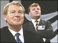 Charles Kennedy pictured with Paddy Ashdown
