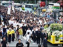 Funeral procession in Taipei, Taiwan