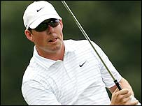 Justin Leonard in action at the St Jude Classic