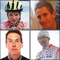 Clockwise from top left, Thomas Harland, Wayne Wilkes, Maurice Broadbent and Dave Horrocks