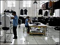 Fábrica de textiles chinos