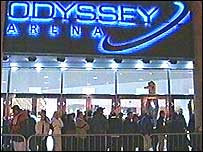 Customers outside Odyssey Complex