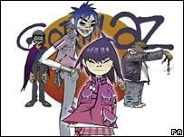 Jamie Hewlett's Gorillaz artwork