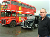 Steve Griffin with his 1966 London bus