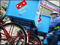 Domino's delivery bikes
