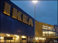 Ikea store in Edmonton, North London