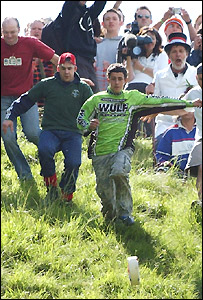 Cheese rolling on Cooper's Hill, Gloucs