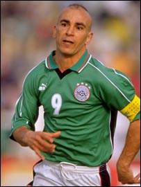 Egpytian striker Hossam Hassan