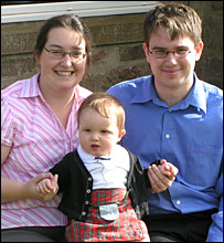 Alan Marson, wife Moira and son Thomas
