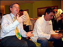 Google's CEOs Eric Schmidt and Larry Page at CES