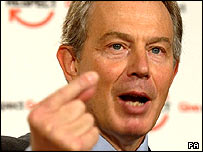Tony Blair launching his 'respect' plans