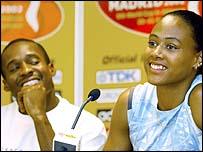 Tim Montgomery and Marion Jones during happier times