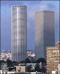 The Azrieli Towers in Tel Aviv