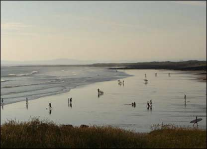 Katherine Thomas, from Port Talbot, took this view of the busy beach at Rest Bay in Porthcawl