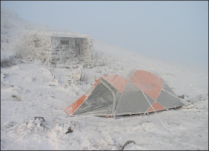 Gareth Owen sent this shot of the summit of Foel Grach when he and friend Iwan Hughes went camping
