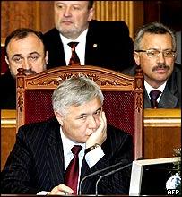 Ukrainian Prime Minister Yuri Yekhanurov and cabinet