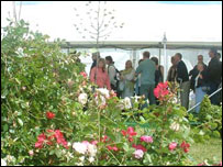 Queues at Hay Festival on Monday