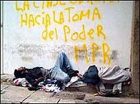 Indigente en Venezuela. Foto Marco Riboldi.