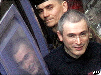 Mr Khodorkovsky arrives at court