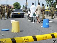 Scene of the attack on Maj Muthalif's car